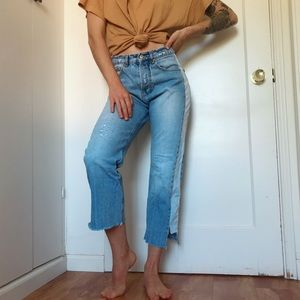 [Zara] TRF distressed denim jeans